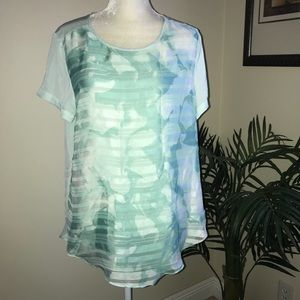 NWT Mossimo Hi Lo Short Sleeve Top L